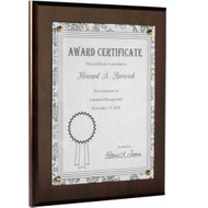 wood certificate plaque