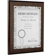 wood certificate plaque