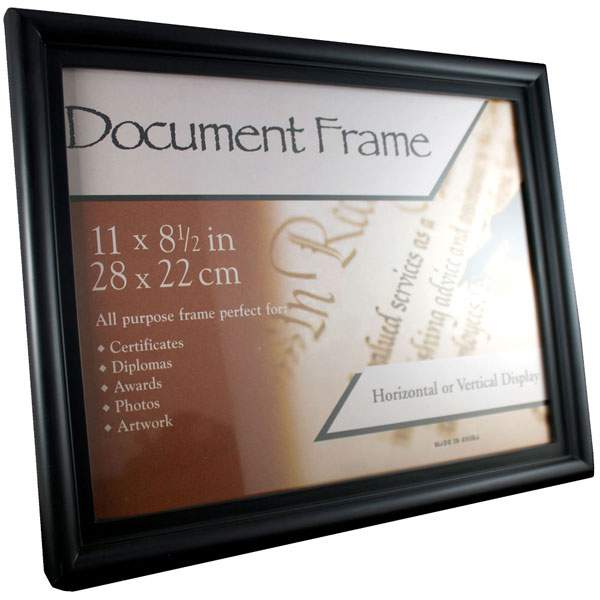 Black Plastic Document Certificate Frames With Bulk Pricing