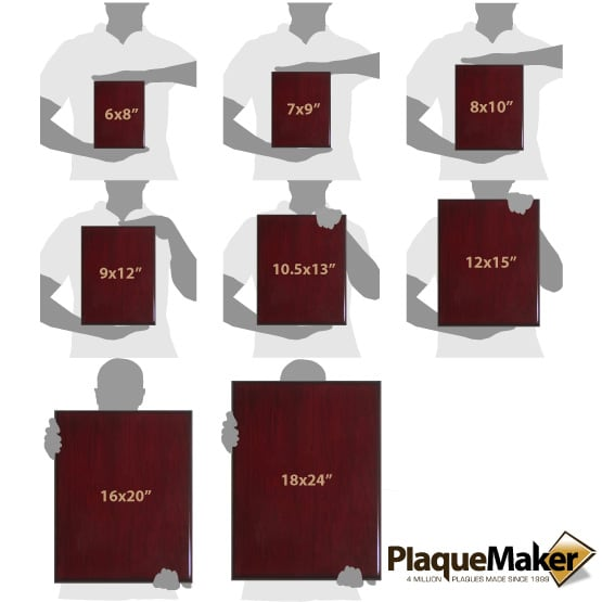 Rosewood Plaque Size Guide