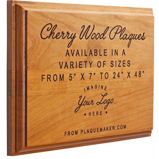 Solid Cherry Wood Plaque