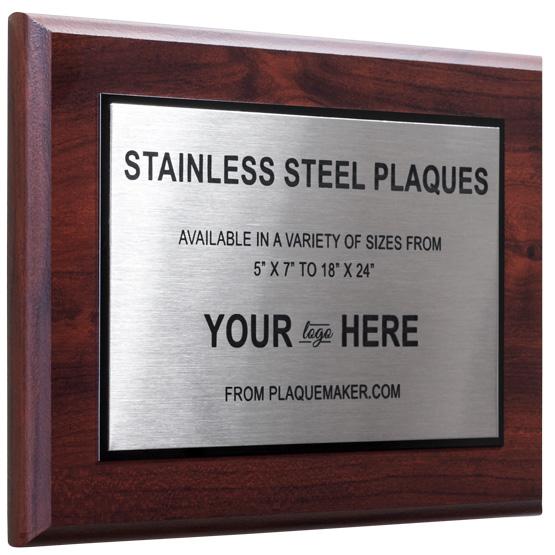 Custom Stainless Steel Plaques Plaquemaker Com