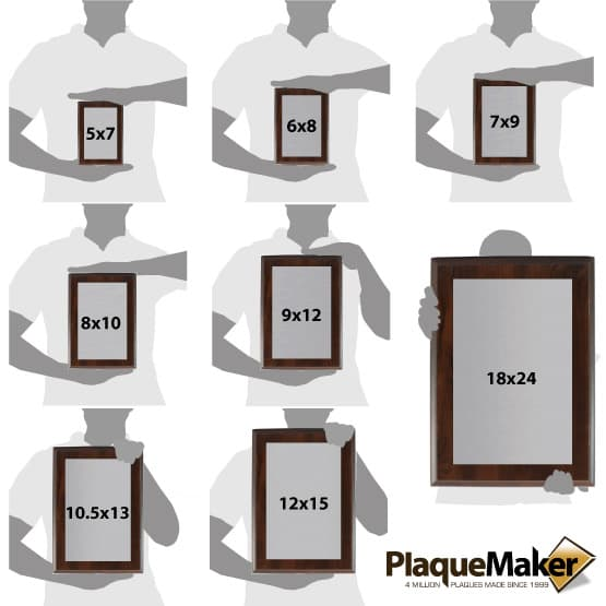 Stainless Steel Plaques Size Chart