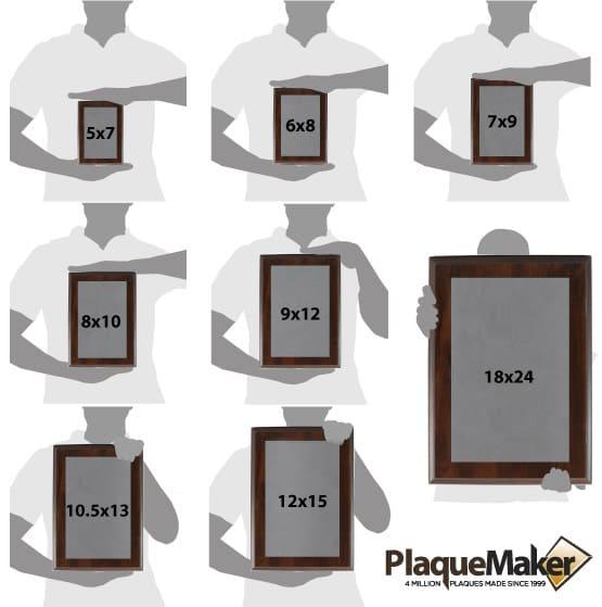 Titanium Plaque Size Guide