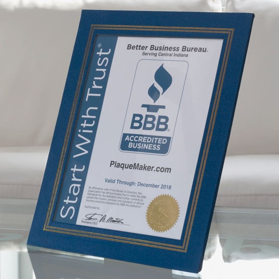 blue vinyl certificate presentation folders