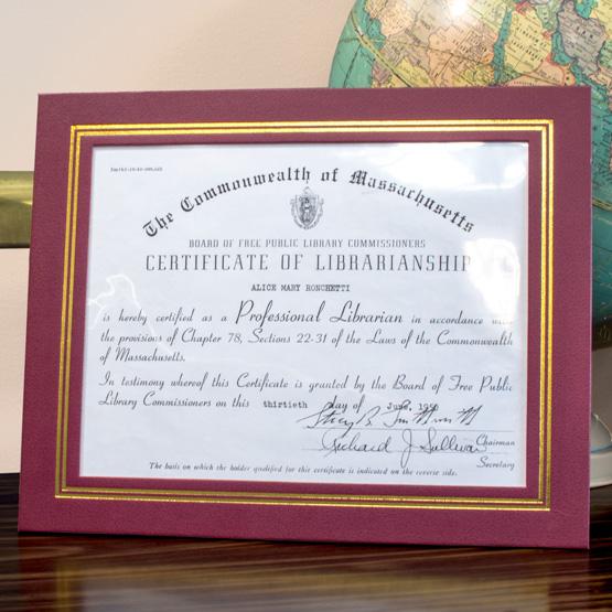 Burgundy Vinyl Certificate Folder