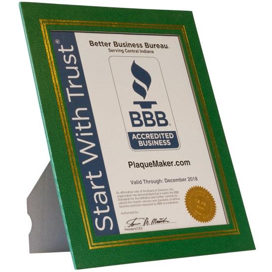 Green Vinyl Certificate Folder