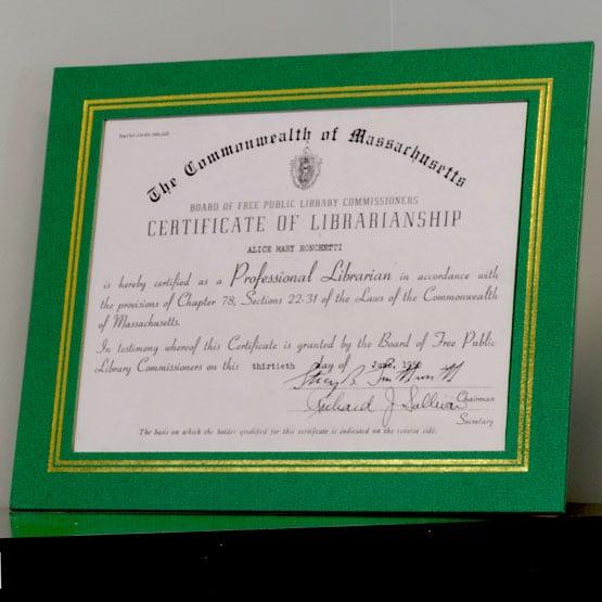 green vinyl certificate presentation folders