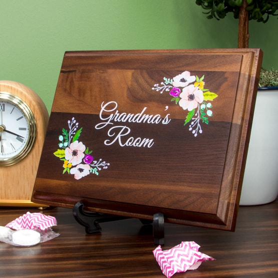 Color Printed Walnut Wood Plaques