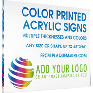 Color Printed Acrylic Signs