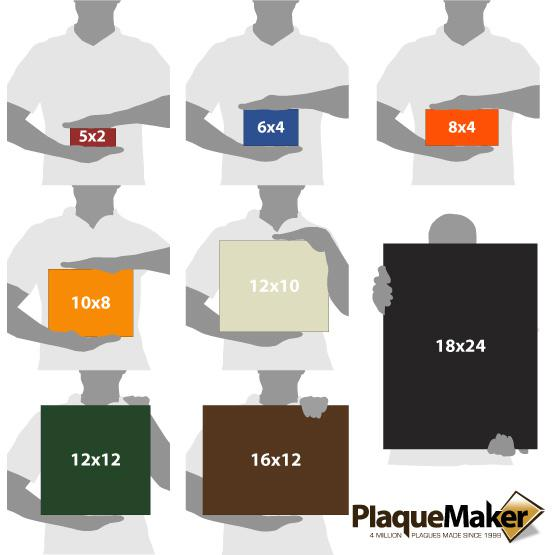 Color Printed Acrylic Signs Sizes