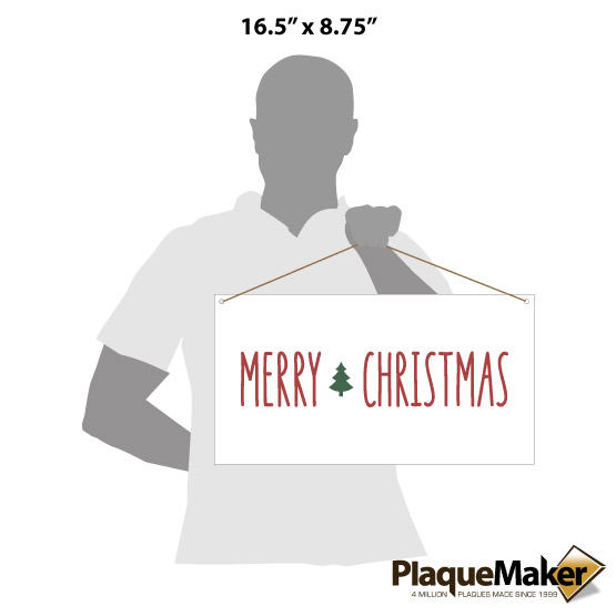 Merry Christmas Acrylic Sign Size