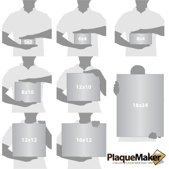 Clear Acrylic Signs Size Chart