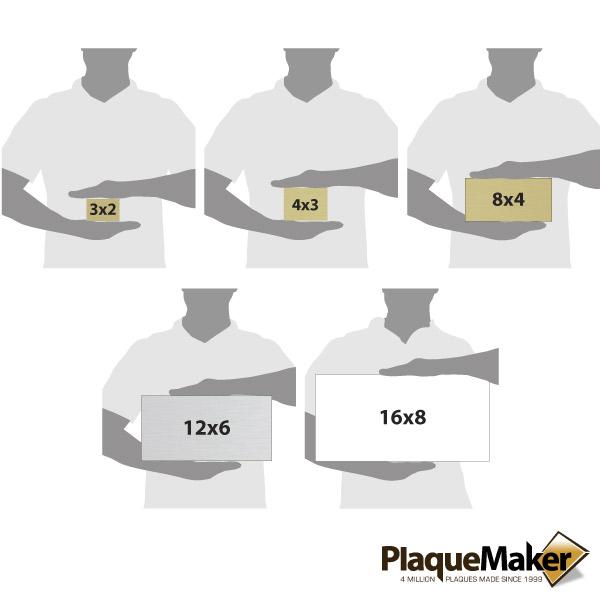 Aluminum Address Plaque Size Chart