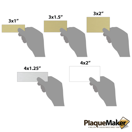 aluminum wall tag sizes