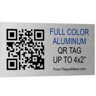 Aluminum QR Code Tag