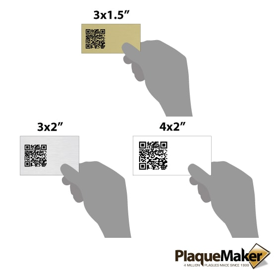 Aluminum QR Code Tag Size Guide