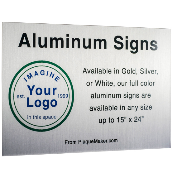 Ships Today: Aluminum Signs