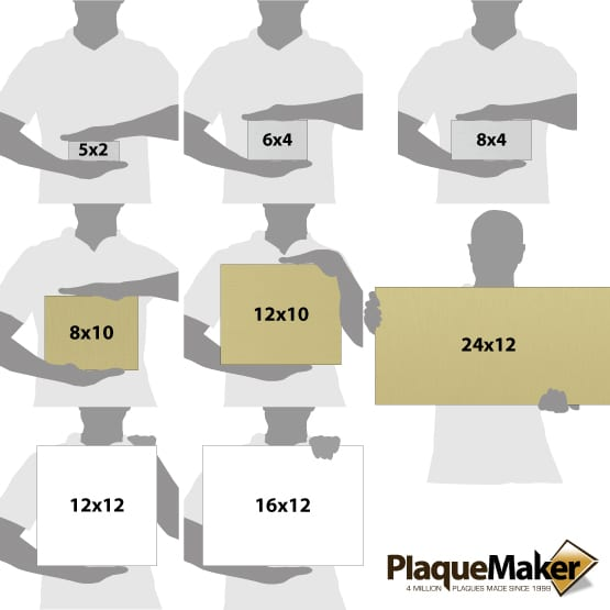 Aluminum Signs Size Chart
