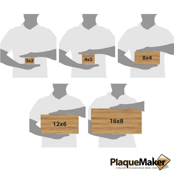Bamboo Address Plaque Size Chart