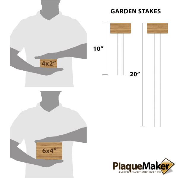 Wood Garden Markers Size Chart
