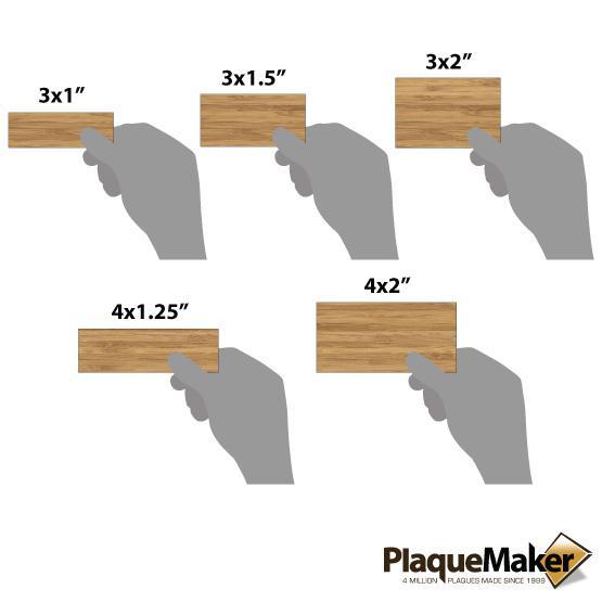 bamboo wall tag sizes
