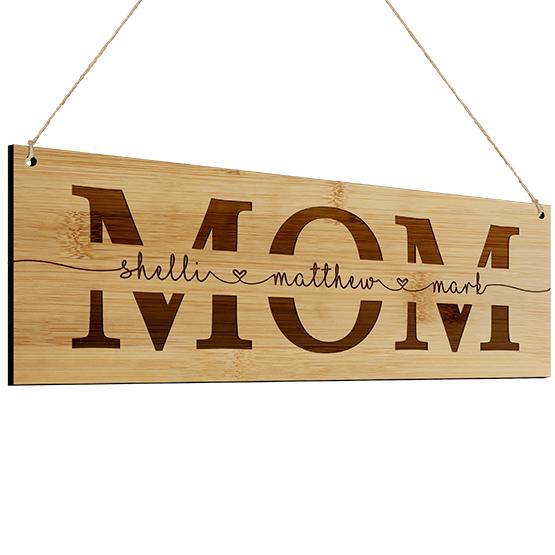 Mom Bamboo Sign