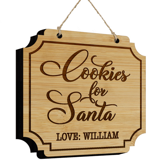 Cookies for Santa Bamboo Sign