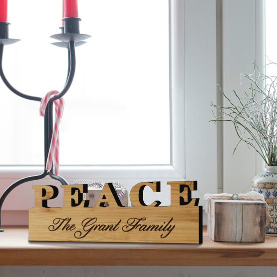 Peace or Noel Standing Sign Size