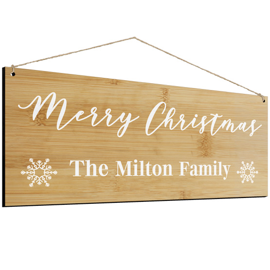 Merry Christmas Family Sign