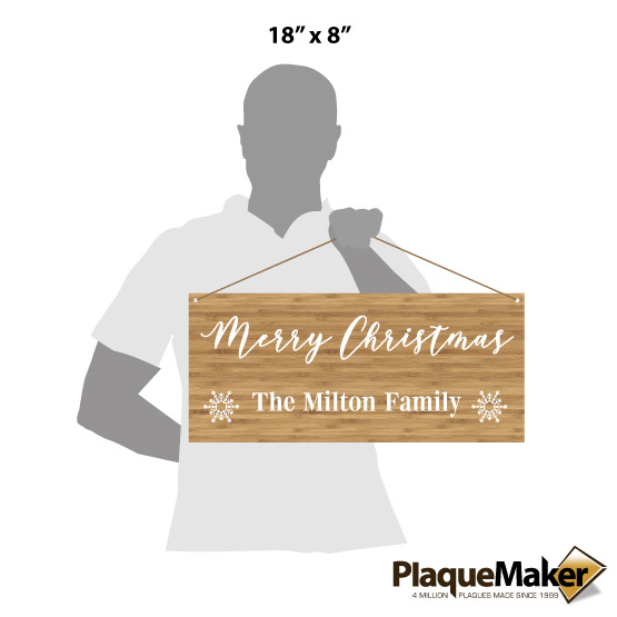 Merry Christmas Family Sign Sizes
