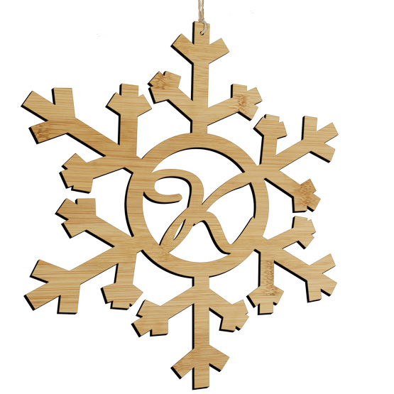 Monogram Snowflake Sign