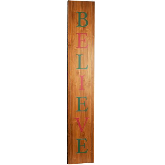 Color Believe Porch Sign
