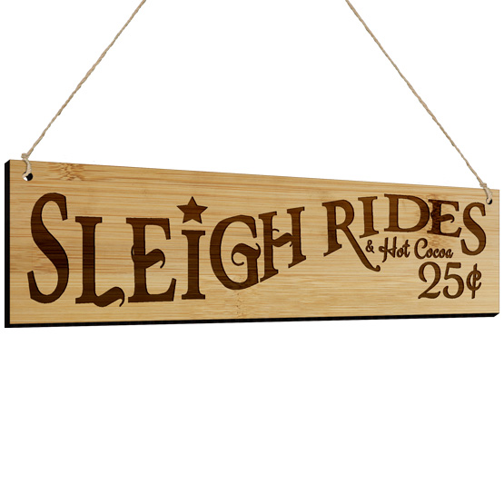 Sleigh Rides and Hot Cocoa Sign