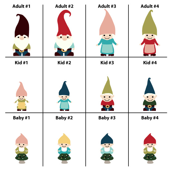 Gnome Family Member Selection
