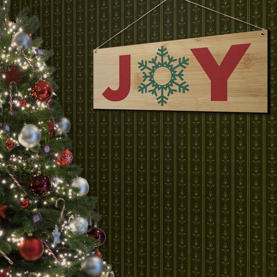 Joy Bamboo Sign