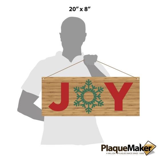 Joy Bamboo Sign Size