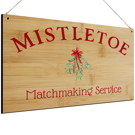 Mistletoe Matchmaking Service Sign