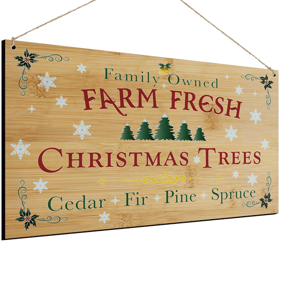 Tree Farm Bamboo Sign