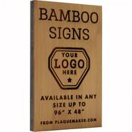 Bamboo Wood Signs