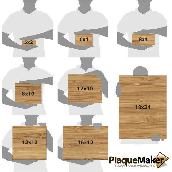 Bamboo Wood Signs Size Chart