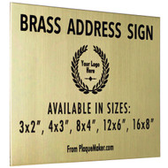 Brass Address Sign