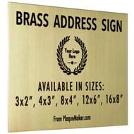 Brass Address Sign