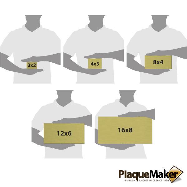 Brass Address Plaque Size Chart