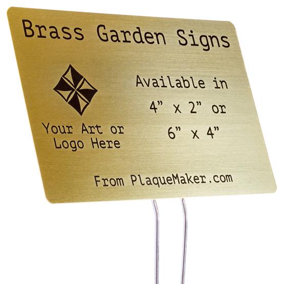 Brass Garden Sign