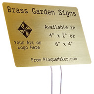 Brass Garden Sign