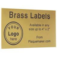 brass wall tag