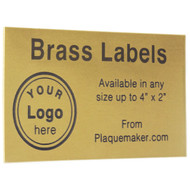 brass wall tag