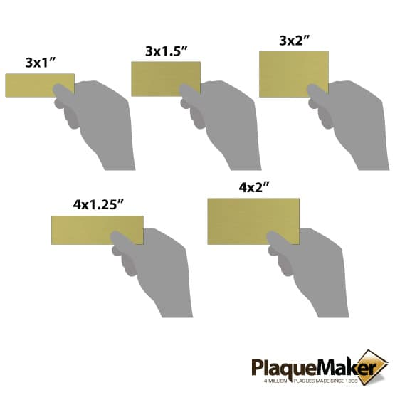 brass wall tag sizes