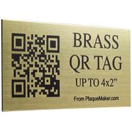 Brass QR Code Tag